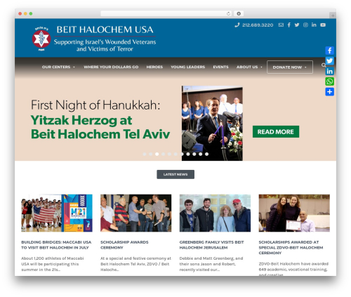 HelpingHands WordPress theme - fidv.org