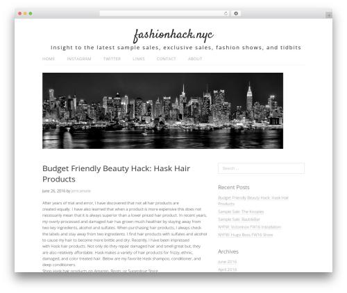 Lifestyle free WordPress theme - fashionhack.nyc