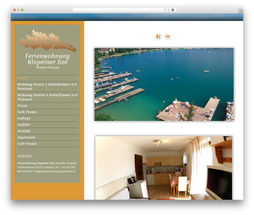 Luminescence Lite template WordPress free - ferienwohnung-klopeinersee.at
