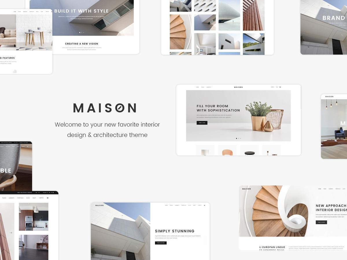 Maison Child WordPress website template