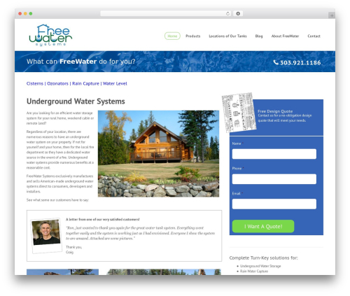 Novus premium WordPress theme - freewatersystems.com