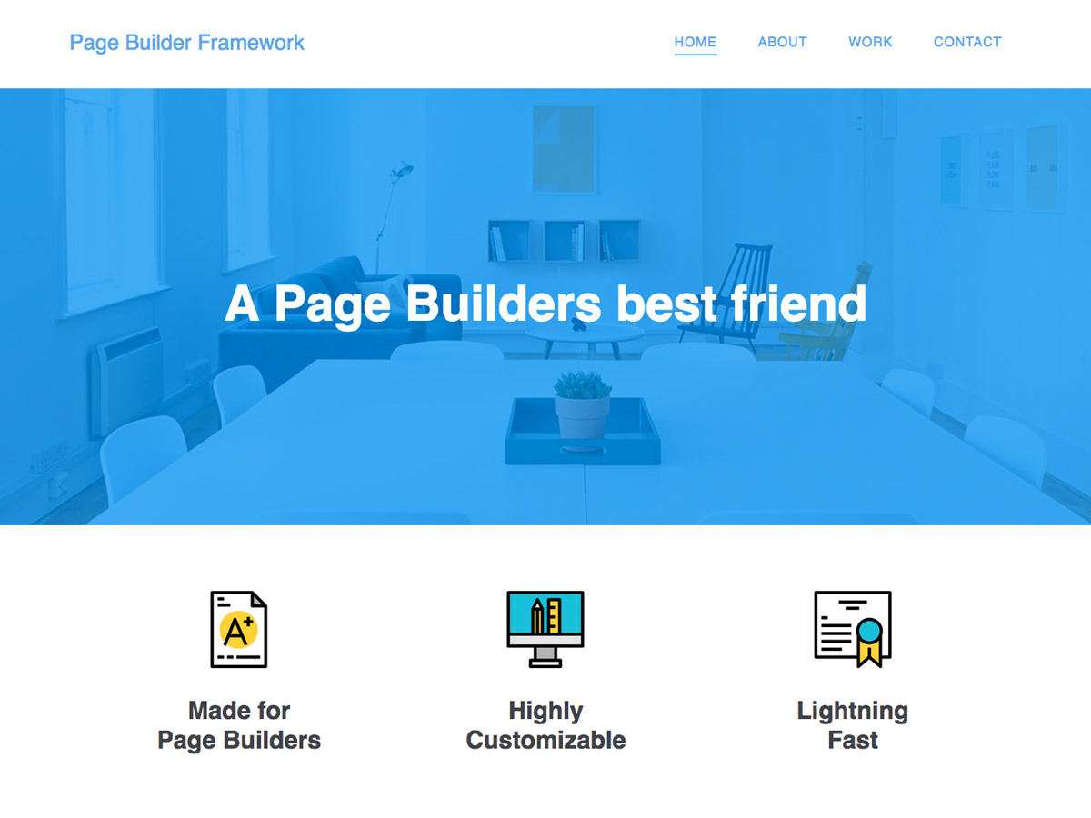 Page Builder Framework – Child WordPress template