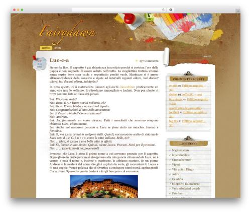 Paper Wall WordPress theme design - fairydawn.com