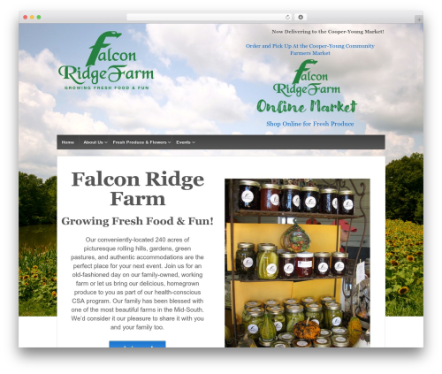 Responsive free WP theme - farmatfalconridge.com
