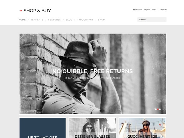 ShopAndBuy WordPress ecommerce template
