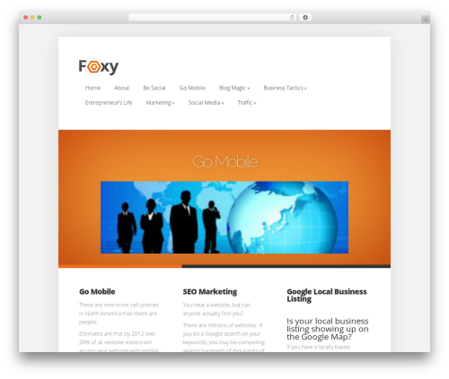 Theme WordPress Foxy - focusontraffic.com