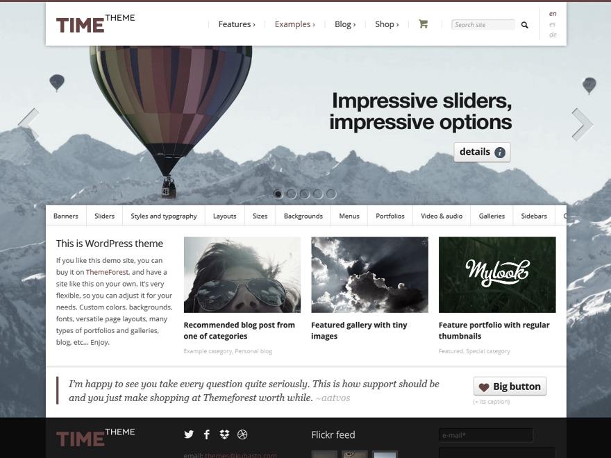 Time Child template WordPress