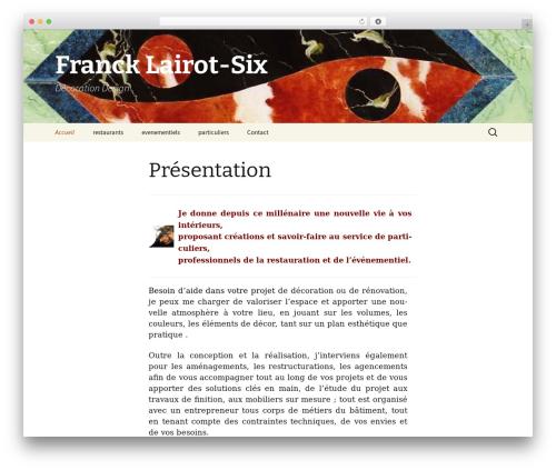Twenty Thirteen free WP theme - francklairot-six.com