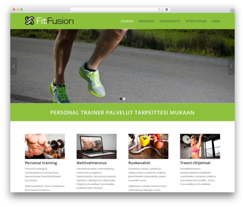 WordPress website template Enfold - fitfusion.fi