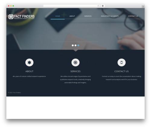 WordPress website template Klasik - factfinders.com