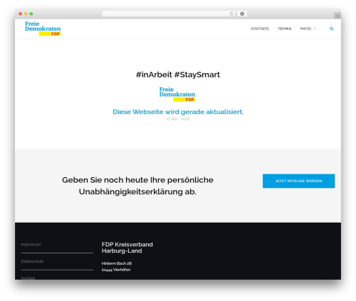 WordPress website template Shapely - fdp-harburg-land.de