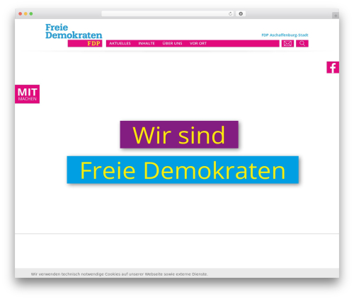 WP theme FDP - fdp-aschaffenburg-stadt.de