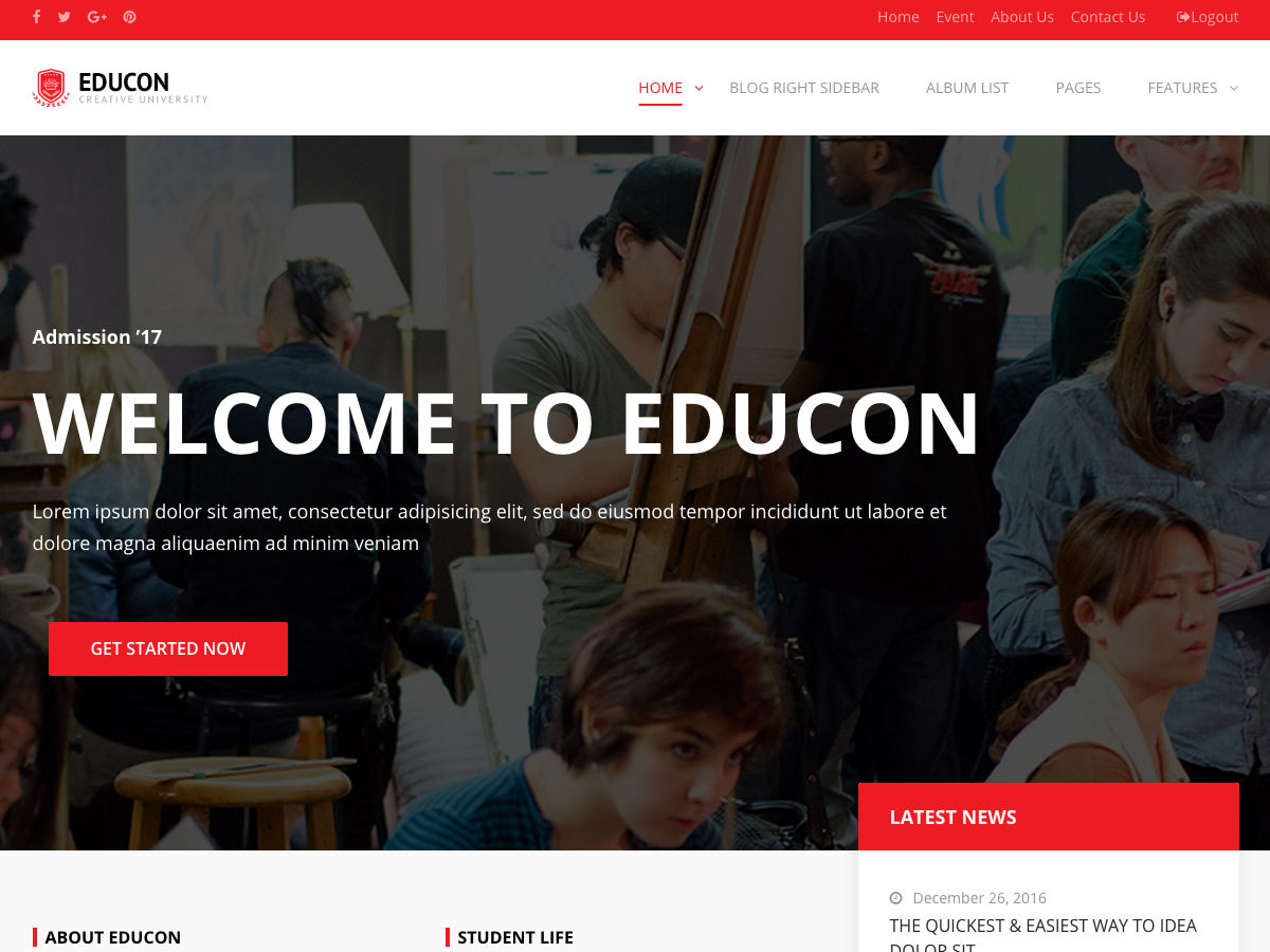 wpeducon Child WordPress theme