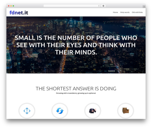Zerif Lite WordPress theme free download - fdnet.it