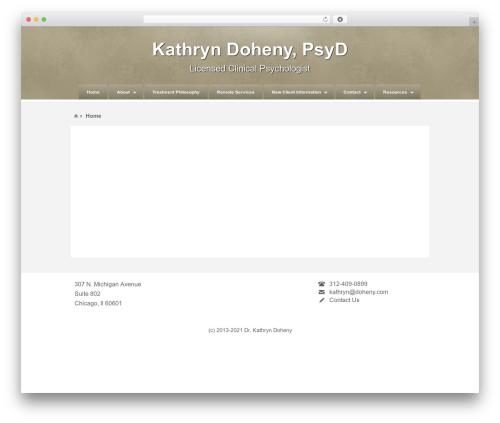 Barely Corporate top WordPress theme - drkathryndoheny.com