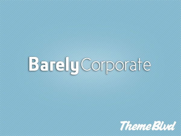 Barely Corporate WordPress template for business