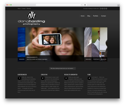 Corona WordPress template for photographers - danaharding.com