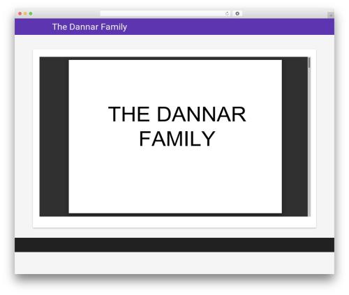 Material Lite WordPress website template - dannar.us