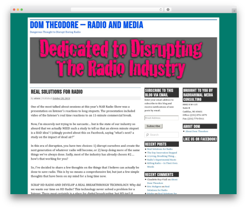 nano blogger best WordPress template - domtheodore.com