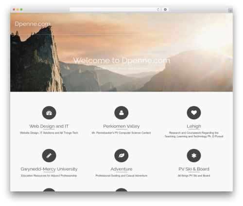 Pinnacle best free WordPress theme - dpenne.com