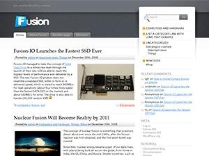 WordPress template Fusion