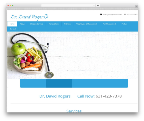 WordPress template Health-Center-Pro - drdrogers.com