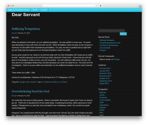 WordPress theme Mobile First - dearservant.com