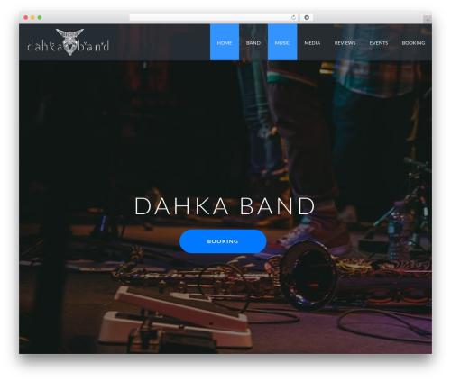 Best WordPress template Jupiter - dahkaband.com