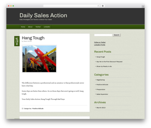 Builder WordPress page template - dailysalesaction.com