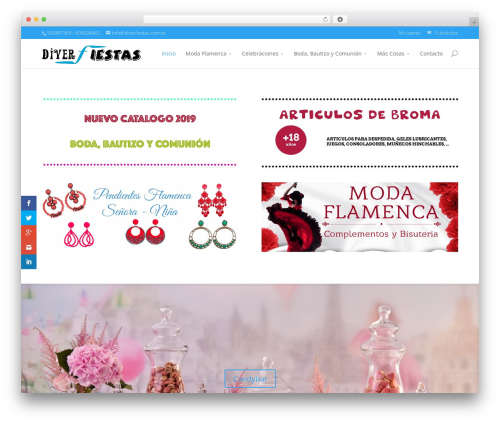 Divi best WordPress theme - diverfiestas.com.es