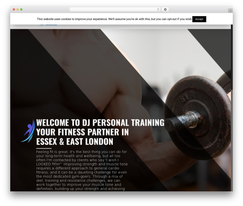 DJ premium WordPress theme - djpersonaltraining.com