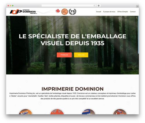 OnePirate theme WordPress free - dominionprinting.net