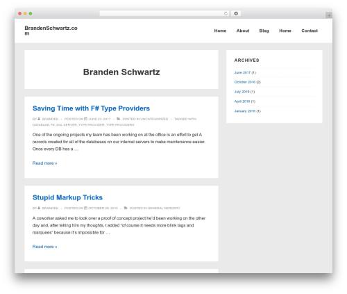 Responsive top WordPress theme - brandenschwartz.com