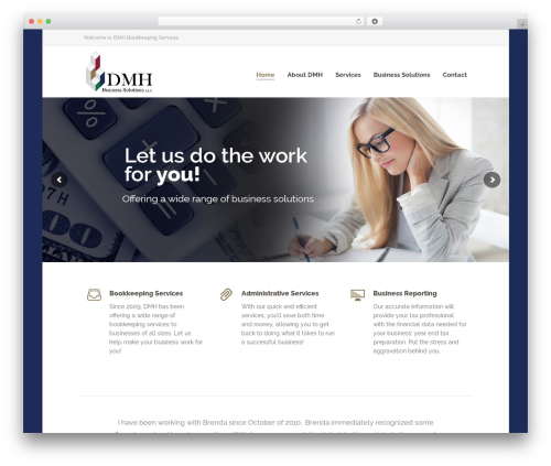 Specular WordPress template for business - dmhbookkeeping.com