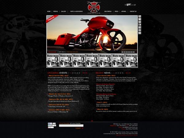 WordPress template Dave Dupor Custom Cycle