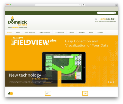 WordPress website template theme1672 - domnickseeds.com
