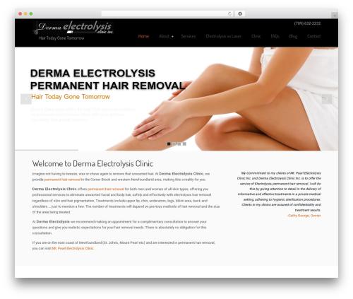Best WordPress template U-Design - dermaelectrolysis.com