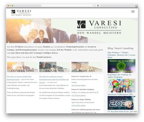 Customizr best WordPress theme - varesi.de
