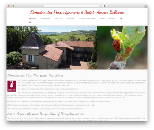 Customizr WP template - domainedespins.fr