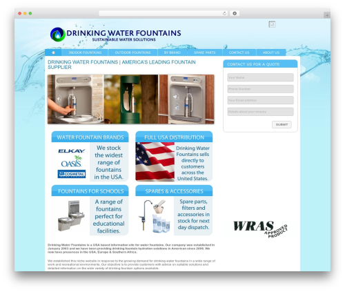 Modular company WordPress theme - drinkingwaterfountains.com