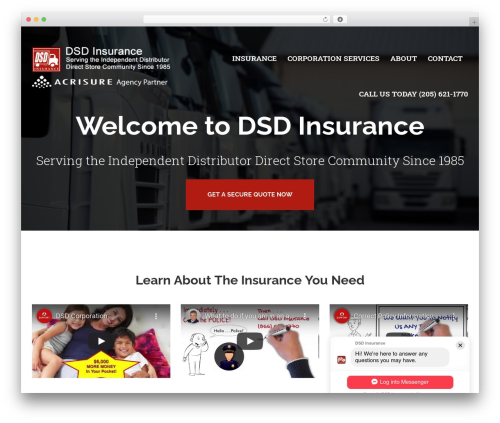 Theme WordPress BrightFire Stellar - dsdinsurance.com