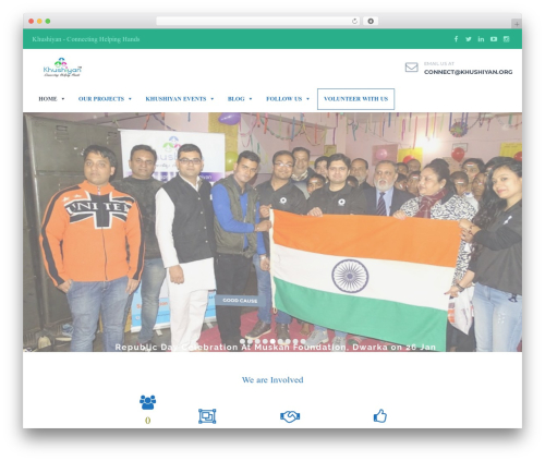 WordPress theme HelpingHands - khushiyan.org