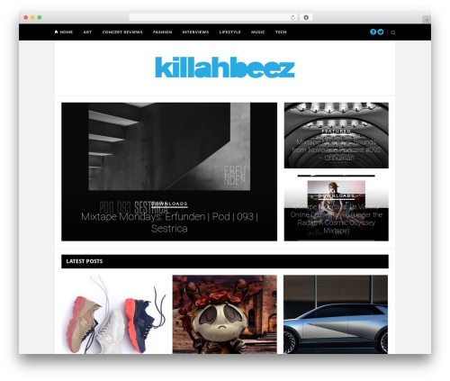Hickory WordPress website template - killahbeez.com