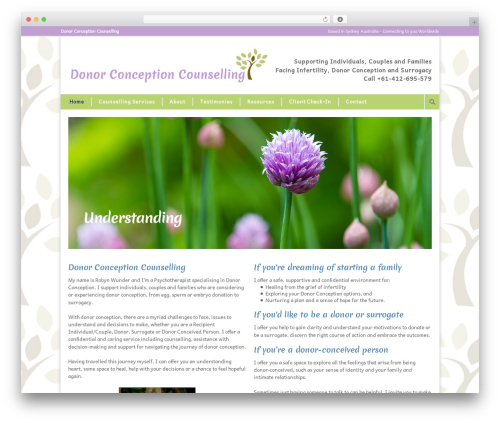 Modernize top WordPress theme - donorconceptioncounselling.com