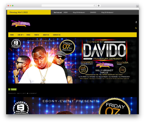 Styled Mag free website theme - kings-of-afrobeats.com