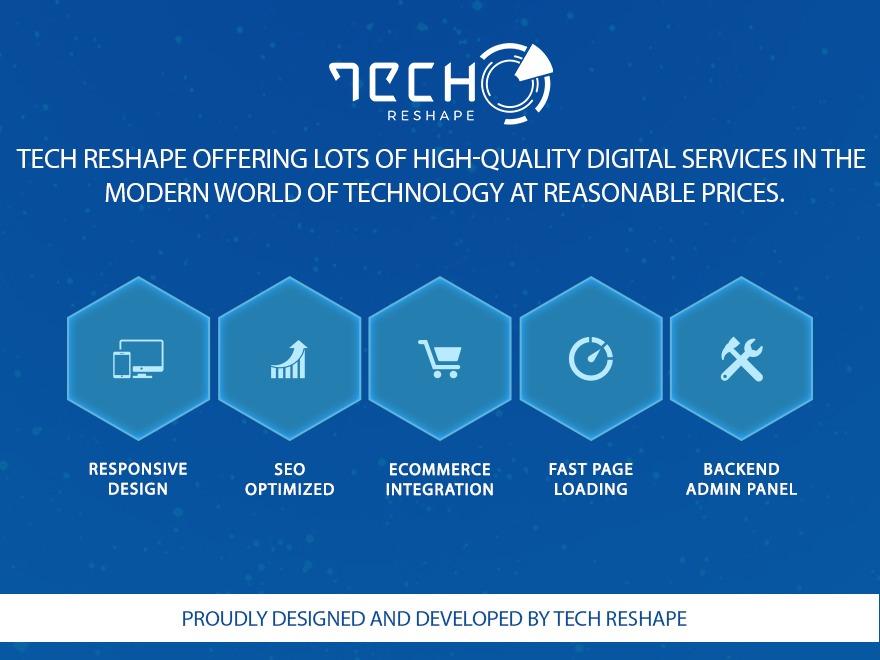 Tech Reshape WordPress theme design