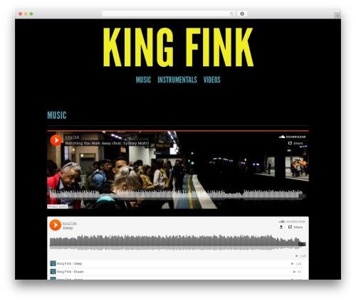 Theme WordPress Trvl - kingfink.com/home