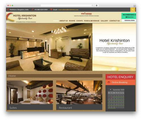 Viva Hotel best hotel WordPress theme - krishinton.com