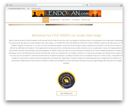 WordPress template AccessPress Staple Pro - kendokan.com