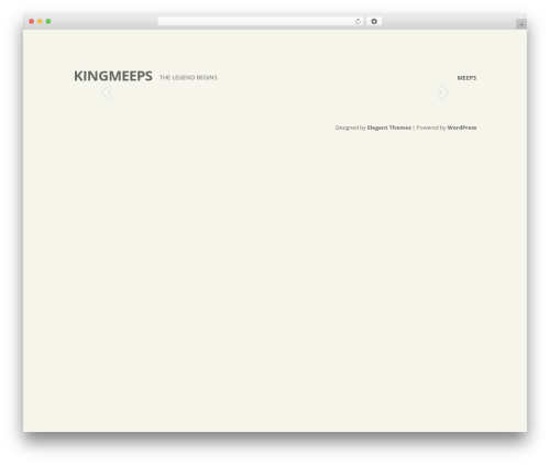 WordPress theme Flexible - kingmeeps.com